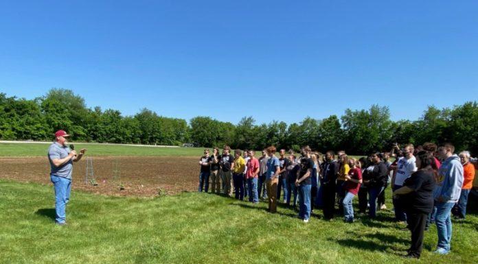 Riverdale High FFA Students Plant Garden